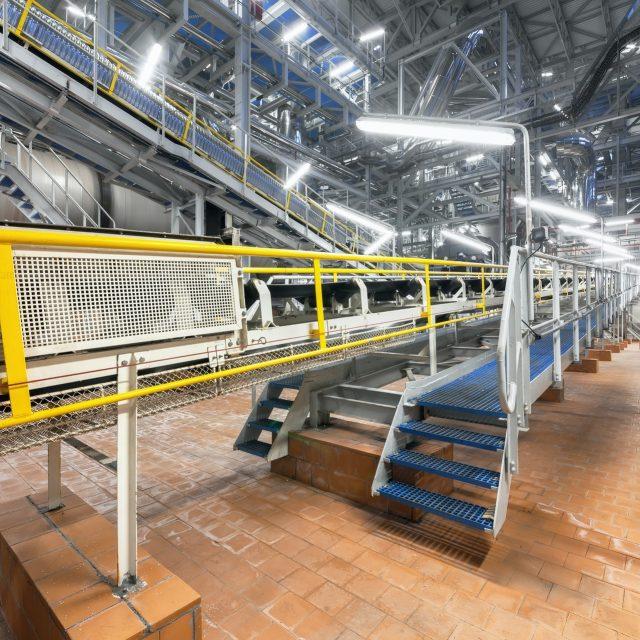 Chemical plant inside
